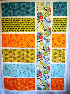 Not these fabrics, but African prints colorblock quilts? bijou lovely: Colorblock quilts.