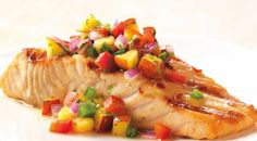 Salmon with Nectarine Salsa Recipe from Weber's Way to Grill™ by Jamie Purviance