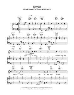 partitura de skyfall