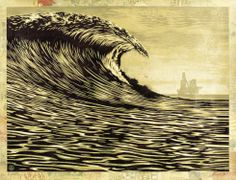 This New Wave Is A Little Slick For My Taste by Shepard Fairey