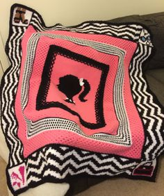 Crochet Designer Barbie Logo Afghan Pattern.    Check out the pattern here!