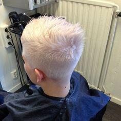 clipper cut platinum blonde w ultra short crop