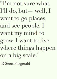 dream big, life motto, dreams, f scott fitzgerald, thought, place, travel quotes, big scale, senior quotes