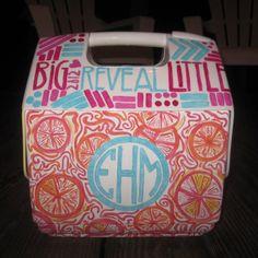 idea, pattern, crafti, cooler design, monogram, biglittl, coolers, big little cooler, diy