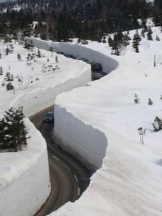 Yuki-no-Otani Snow Canyon road in Japan...............Now, just tell me how they plow that?????