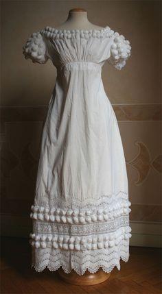 Dress, ca 1819, Abiti Antichi