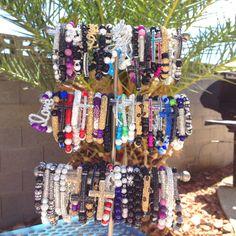 Custom Made Blinged Bracelets