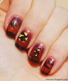 Halloween by Yasinisi from Nail Art Gallery