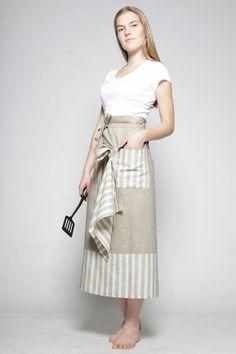 Pure Linen Apron and Linen Kitchen towel. $34.00
