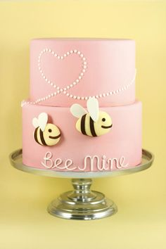 Be Mine Pink Wedding Cake Picture