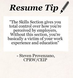 Resume Tip: Writing the Perfect Skills Section