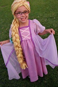 DIY Halloween DIY Costumes :DIY Girls Halloween Costumes : DIY Making Stuff: Rapunzel Costume {women??s dress refashion} |