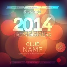 New Year 2014 Flyer Template Vector! #celebration