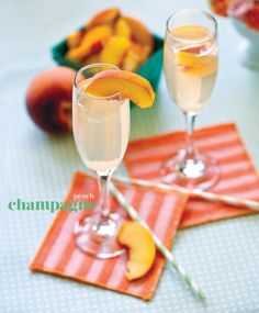 Peach champagne. Photo by Tammy Odell Photography. #wedding #cocktail #editorial #peach #champagne #champs