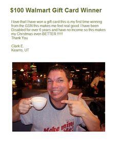 Congratulations on winning a $100 Walmart Gift Card Clark E!