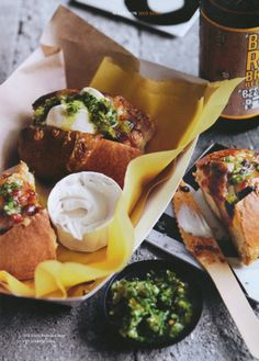 Chili black bean hot dogs with jalapeno salsa.