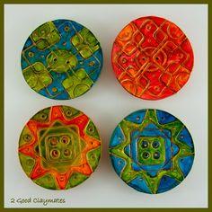2 Good Claymates: Fibre Expressions Quilt Shop Concave Buttons