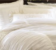 airy white bedding
