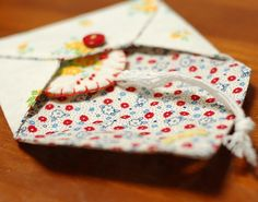 'love letter' in a fabric envelope ~ how cute is this?