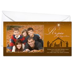 Photo Cards : Nativity Christmas Holiday Photo Card Template