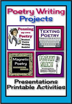 This resource is a bundle of my popular poetry writing projects. These activities provide everything you need to prepare your students to write unique and creative poetry. By purchasing these products in a bundle, you are saving over 30%!