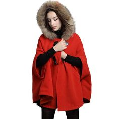 Womens Fur Collar Hoodie Coat Cute Po... for only $26.84