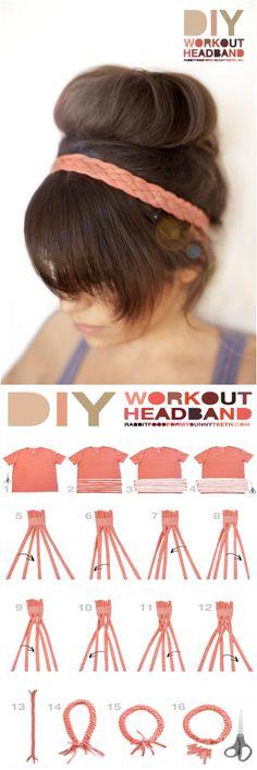 DIY Workout Headband.  Love it!