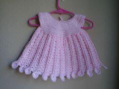 Ravelry: Pink Petal Newborn Baby Dress by Aundie Molina