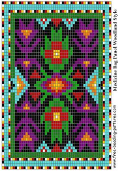 Great Lakes #02 Woodland Loom Beadwork Design - FREE PATTERN