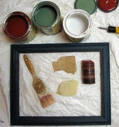 paint cans, new apartment, distress frame, a frame, old wood, distress wood, distress pictur, picture frames, pictur frame