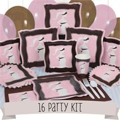 Pink and brown baby shower ideas on Pinterest