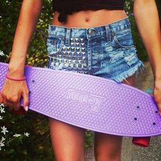 Purple penny board