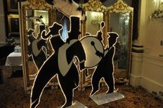 Superdome entrance?  Life-Size Second Line / Jazz SilhouettesLeader & Bass Drum PlayerHeight: app. 6'