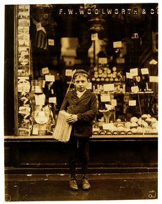 Vintage Photo of a Newsboy