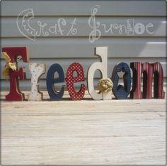 Primitive Americana FREEDOM star letter set