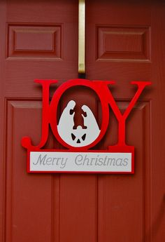 JOY Nativity Christmas Decorative Sign.