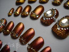 Bronze Goddess 3d Japanese Nail Art japanes nail, nail arts, bronz goddess, bronz nail