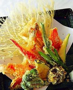 Shrimp Tempura + Sauce-Dip _ Tempura-is a famous Japanese dish where in the 16th century the Japanese brought it from Portugal.