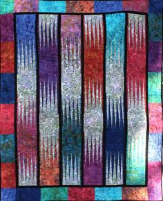 Waterfalls ~ Quiltworx.com made by Certified Instructor, Ginny Radloff