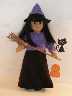 THE WICKED WITCH Downloadable Knitting pattern for any 18 inch Doll including American Girl.
