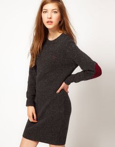 Fred Perry Sweater Dress With Elbow Patches