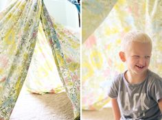 Fort building tips for a fun rainy day clotheslines, kid tent, craft, play tents, retract clotheslin, fun