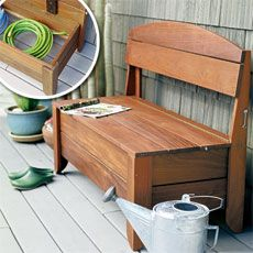 How to Bild a Wooden Porch Storage Bench - From This Old House Magazine