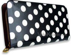 Dámska peňaženka lakovaná bodková Styles, čierna