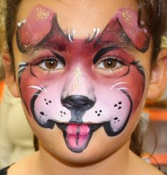 Puppy face painting ideas for kids