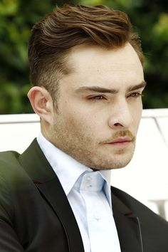 Ed Westwick at Men's Milan Fashion Week for Spring 2013 Menswear collections.