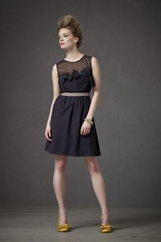 BHLDN Midnight origami pleated dress