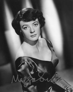 A young Dame Maggie Smith