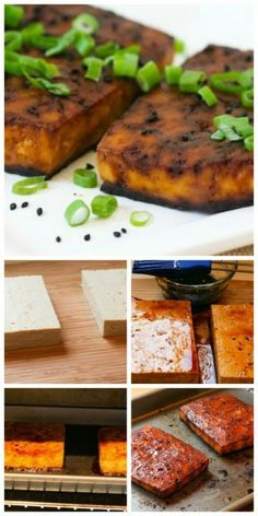 Easy Baked Tofu Recipe with Soy and Sesame; the leftovers are delicious tossed in a salad.  [from Kalyn's Kitchen] #EasyTofu #LowCarb #MeatlessMonday