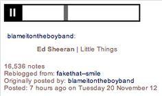Ed Sheeran singing Little Things! http://continuallyfalling.tumblr.com/post/36136672330/blameitontheboyband-ed-sheeran-little-things direct gif, sheeran sing, boy board